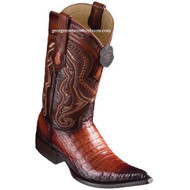 Men's Los Altos Caiman Belly Boots 3X Toe Handcrafted Faded Cognac 9538257