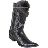 Men's Los Altos Caiman Belly Boots 3X Toe Handcrafted Black 9538205