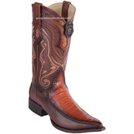 Men's Los Altos Genuine Caiman Belly Boots With Deer 3x Toe Handcrafted 9528257