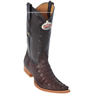 Men's Los Altos Genuine Caiman Tail 3x Toe Boots Handcrafted Brown  950107