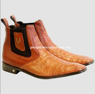 Caiman Belly Mens ankle boots handmade by Vestigium
