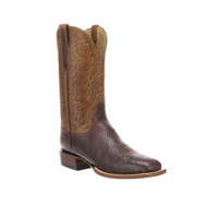 BOND Lucchese Mens Ostrich Western Boots CL1556 CHOCOLATE + SUN SADDLE  W TOE,FS HEEL