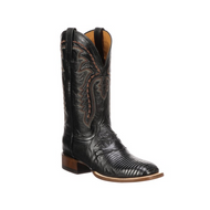 LIMITED RELEASE Lucchese Mens Lizard Western Boots KD6006 BLACK  W TOE,F HEEL