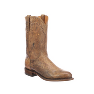 VERNON Lucchese Mens Goat Roper Boots N3508 TAN C TOE,2 HEEL