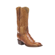 COLTON Lucchese Mens American Alligator Western Boots GY1045 COGNAC + LIGHT BROWN S TOE,3 HEEL