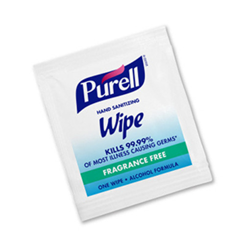 Purell Sanitizing Hand Wipes - Individually Wrapped (Case of 1000)