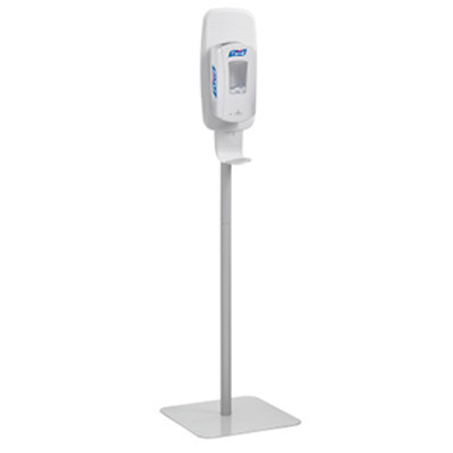 Purell LTX and TFX Floor Stand Sanitizing Station - Light Gray