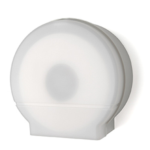"Palmer Fixture Single 9"" Jumbo Tissue Dispenser - White Translucent"