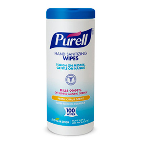 Purell Sanitizing Hand Wipes - 100 Count Canister (Case of 12)