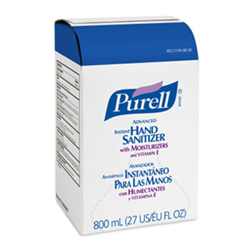 Purell Bag-in-Box 800ml Hand Sanitizer Gel Refills (Case of 12)
