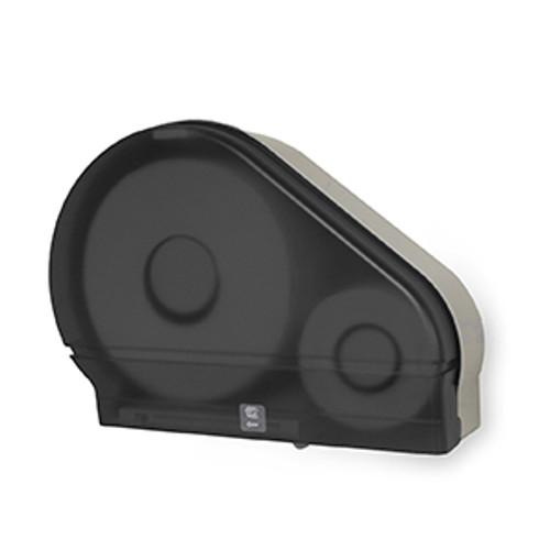 "Palmer Fixture Single 9"" Jumbo Tissue Dispenser with Stub Roll - Dark Translucent"