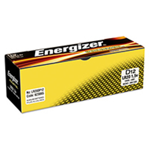 Energizer Industrial Alkaline D Batteries (Box of 12)