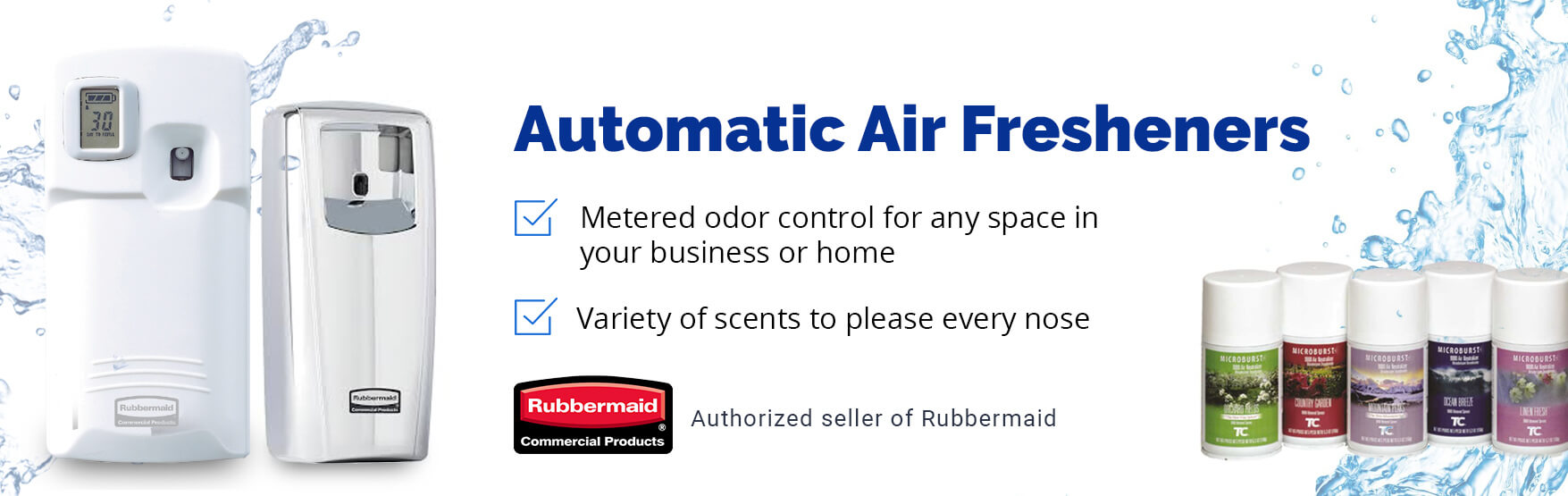 Commercial plumbing touchfree bathroom supply store for Commercial bathroom air freshener