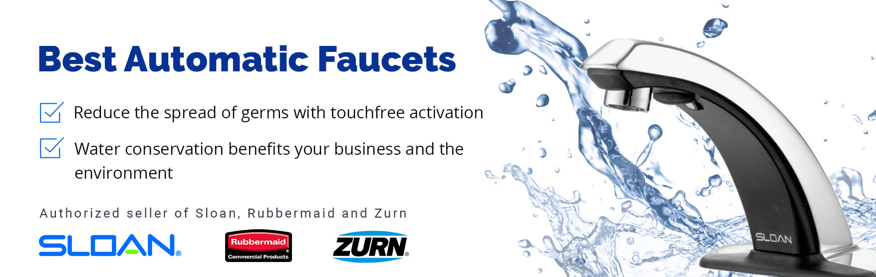 Best automatic faucets from sloan, rubbermaid and zurn