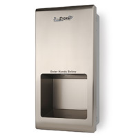 Palmer Fixture BluStorm Recessed High Speed Hand Dryer - Brushed Stainless