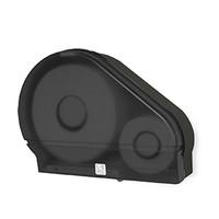 "Palmer Fixture Single 9"" Jumbo Tissue Dispenser with Stub Roll - Black Translucent"