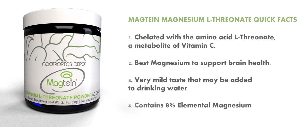 Magtein Magnesium L-Threonate Quick Facts