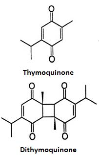 Thymoquinone and Dithymoquinone Structures
