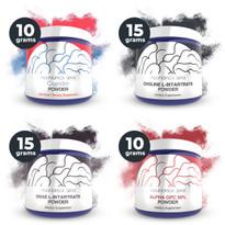 Choline Supplement Sample Pack (Alpha-GPC 50%, Cognizin Citicoline, Choline L-Bitartrate, DMAE L-Bitartrate)
