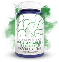 NA-R-ALA Stabilized R-Lipoic Acid 125mg Capsules (NARALA)