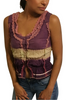 100% Cotton Peasant Top! Boho-Chic Purple Tie Dye.
