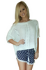 Cotton & Wool Boutique Crochet Sweater with Dolman Sleeves! White.