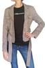 Belted Classic Blazer is 65% Wool! Pink & Black Tweed. ** HEAVY ITEM **