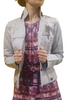 Belted Jacket, 70% Cotton Grey Oatmeal.