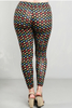 PLUS SIZE LEGGINGS! BLACK WITH MULTICOLOR POLKA DOTS FROM CAREN SPORT!