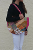 BOHO CHIC! Nepali Oval Bag with Quilted Pattern! Pink.