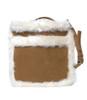 Faux Suede Leather & Fur Trim Purse!