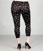 PLUS SIZE LEGGINGS! BLACK WITH CROSSES FROM CAREN SPORT!