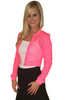 Boutique Crop Top Activewear Jacket! Neon Coral with Fishnet.