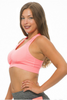 Get Active! Sports Bra/Workout Top with Racer Back! Coral Pink.