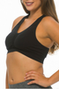 Get Active! Sports Bra/Workout Top with Racer Back! Black.