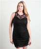 PLUS SIZE DRESS! BLACK LACE BODYCON FROM LOVE CHESLEY.
