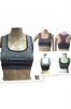 Get Active! Sports Bra/Workout Top with Racer Back! Charcoal with Fuchsia.