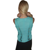 Corset Top with Lace Accents! Teal/Mint.