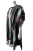 Boho Tassels Poncho is a Boutique Item! Charcoal, Mint & Mocha Aztec.