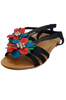 Black & Multi Flower Sandals!