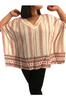 Plus Size Cotton Boho Top with Crochet Accents! One Size Fits Most Plus Sizes.