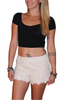 Major Brand! 100% Cotton White Crochet Shorts!