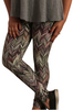 PLUS SIZE Leggings in Striations Of Olive And Purple.