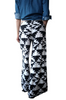 Boutique Aztec Pattern Palazzo Pants with Flare Leg! Black and White Aztec.