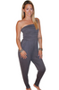 Long Strapless Jumpsuit is 95% Rayon!