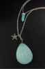 3-Layer Silver Necklace Set with Separate Choker, Turquoise and Star.