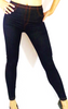 Dark Navy Blue Jean Leggings with Pockets & Faux Buttons!