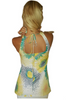 Yellow Sleeveless Top with Cutout Back and Retro Boho Print!