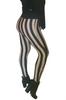 Vertical Striped Jeggings / Stretch Pants. Brown/Black.