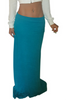 Summer Maxi can be worn as a Skirt or Dress! Teal Blue. 80% Egyptian Cotton!